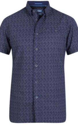 D555 Barlow Navy Short Sleeved Shirt