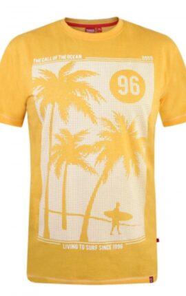 D555 Kansas Orange Surf Print T-Shirt
