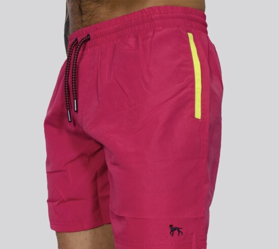 Sand Hot Pink Swim Shorts