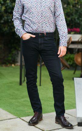 Hattric Stretch Denim Harris Dark Navy Jeans