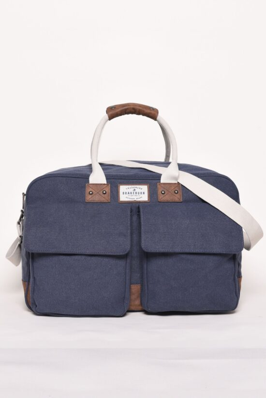 Brakeburn Canvas Navy Holdall
