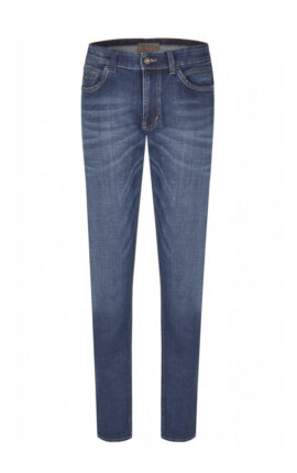 Hattric Stretch Denim Harris Mid Wash Jeans