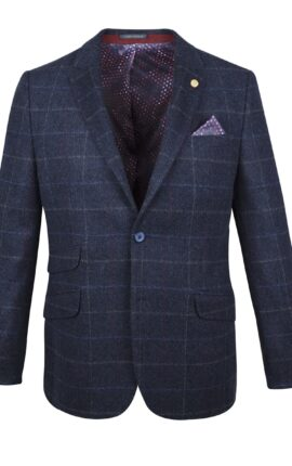 Guide London Navy Check Jacket