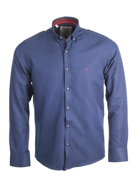 Mineral Lolland Navy Long Sleeved Shirt