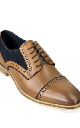 Cavani Naples Tan and Navy Shoes