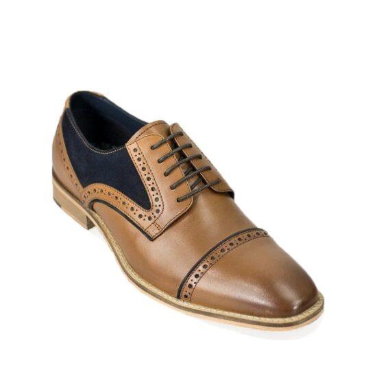 Cavani Naples Tan and Navy Shoes