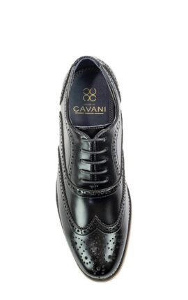 Cavani Oxford Black Brogues