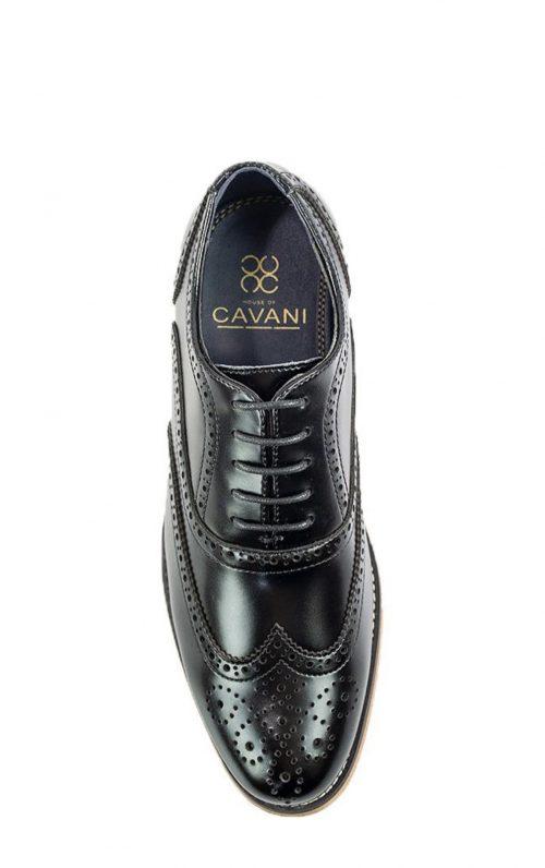 Cavani Oxford Black Brogues