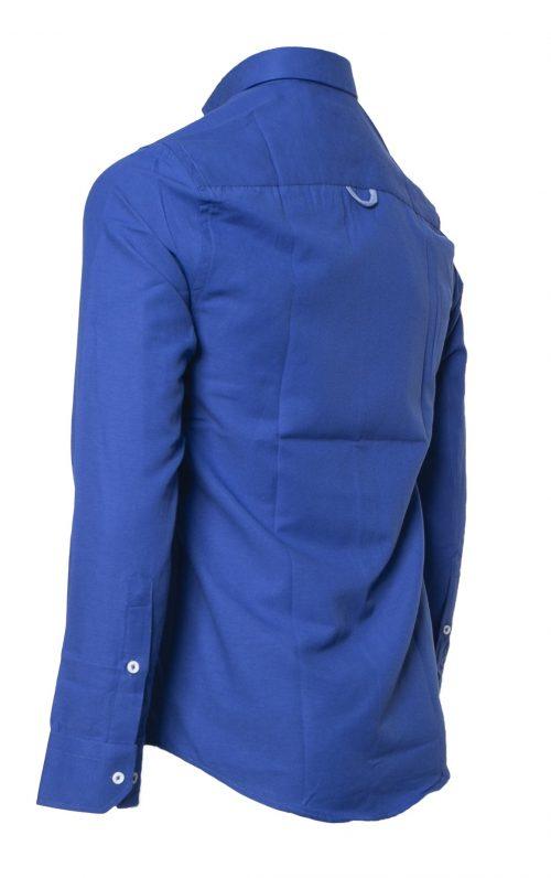 Mineral Lolland Royal Blue Long Sleeved Shirt