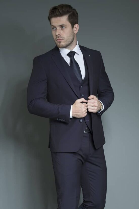 White Label Navy Suit Trousers 2020