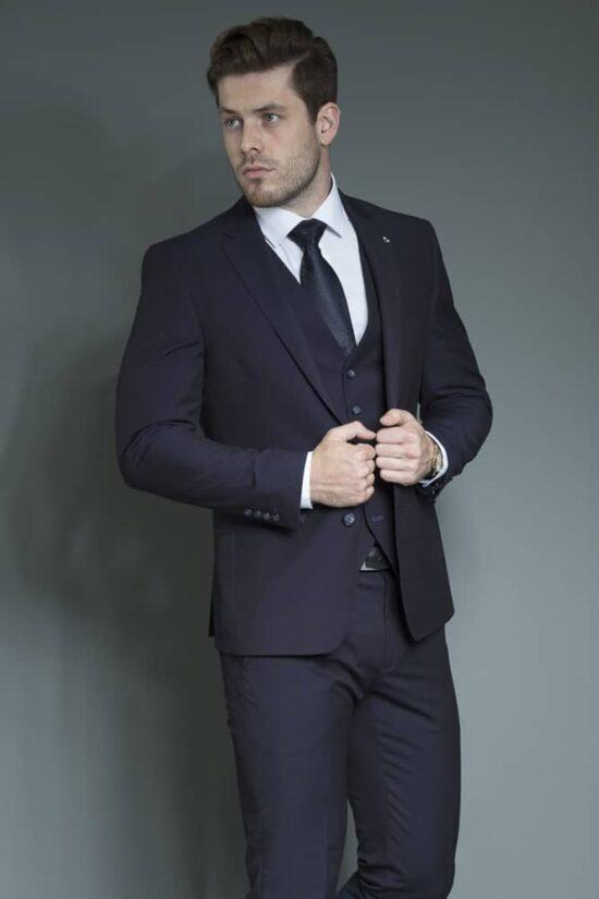 White Label Navy Suit Waistcoat 2020
