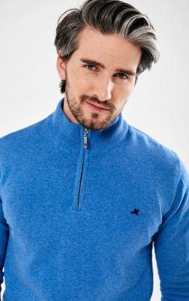 Mineral Altis Mid Blue Half Zip Jumper
