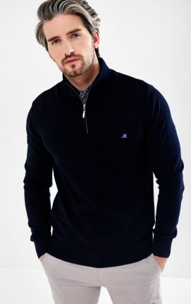 Mineral Altis Navy Half Zip Jumper