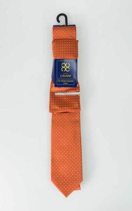 Cavani Orange Tie Set