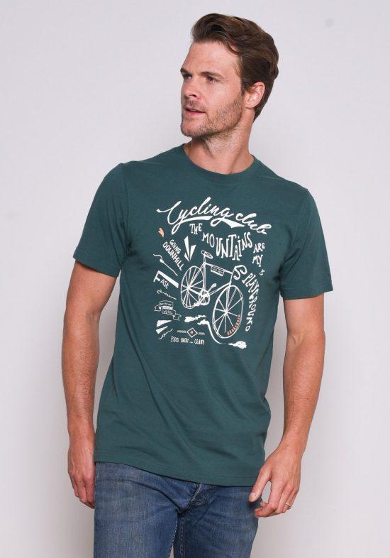 Brakeburn Green Cycling T-Shirt