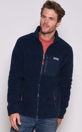 Brakeburn Navy Fleece Jacket