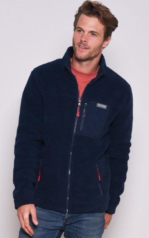 Brakeburn Navy Fleece Jacket