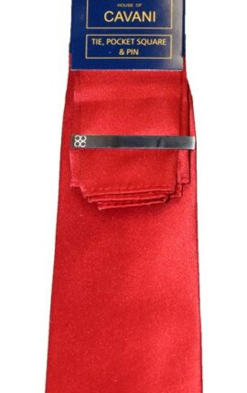Cavani Red Tie Set