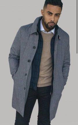 Cavani Brando Grey Coat