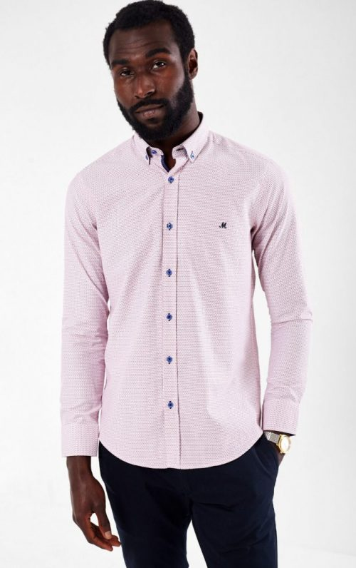 Mineral Moreton White and Red Shirt