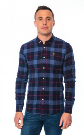 XV Kings Kangaroos Red Stripe Check Shirt