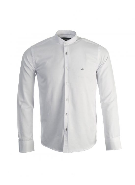 Mineral Buda White Grandad Shirt