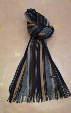 Zazzi Mustard and Navy Stripe Scarf
