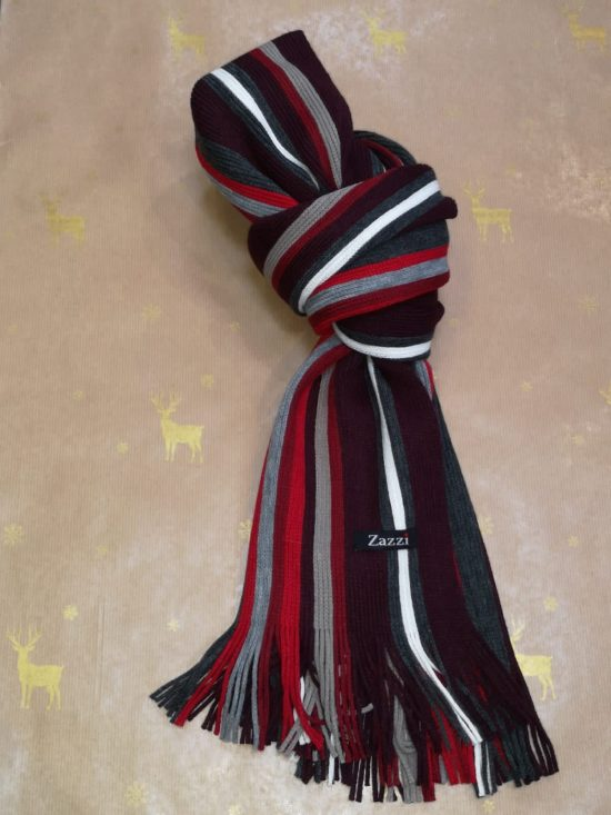 Zazzi Red and Grey Scarf