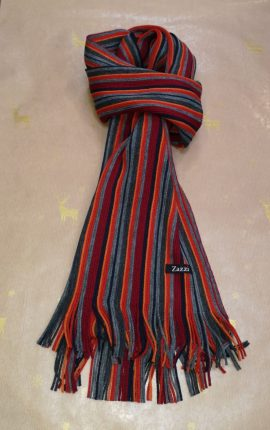 Zazzi Rust Striped Scarf