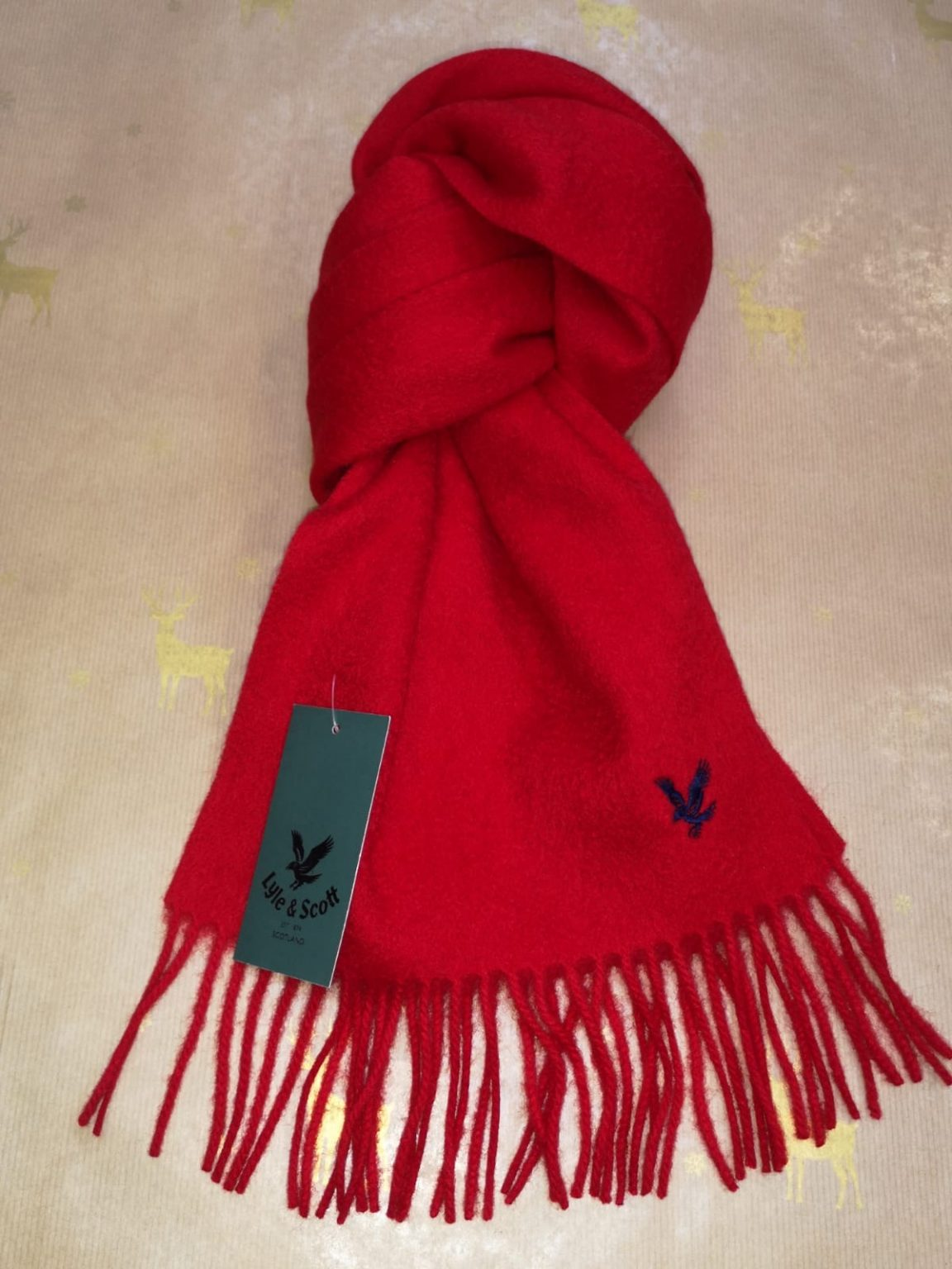 Lyle and Scott Red Scarf