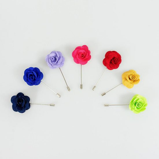 Cavani Flower Lapel Suit Pins