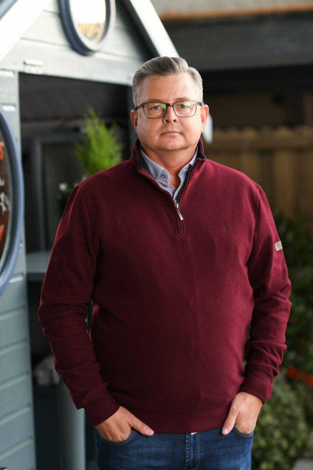 Mineral Kentucky Wine Half Zip Sweater