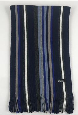 Zazzi Blue Striped Scarf
