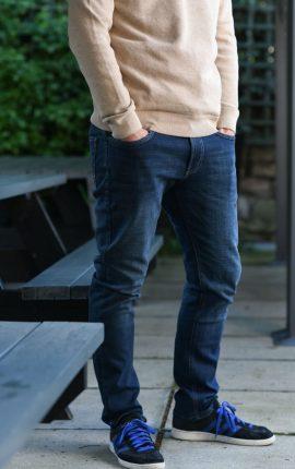 Hattric Stretch Denim Harris Mid Wash Jeans