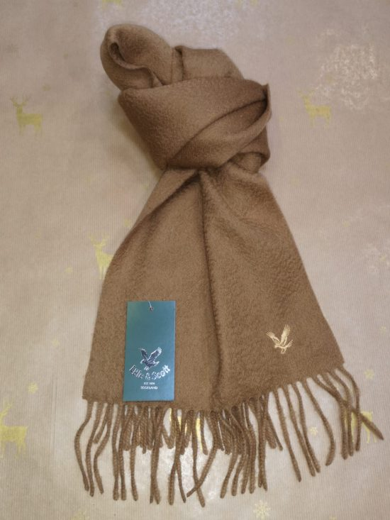 Lyle and Scott Tan Scarf