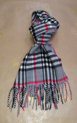 Zazzi Grey Checked Scarf