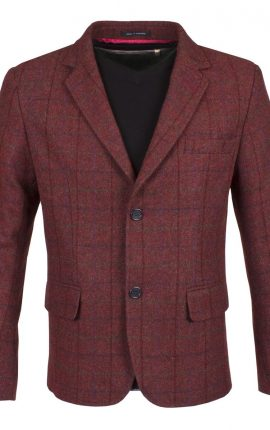 Guide London Burgundy Tweed Blazer