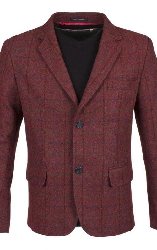 Guide London Burgundy Tweed Blazer