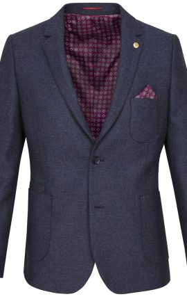 Guide London Navy Wool Blend Blazer