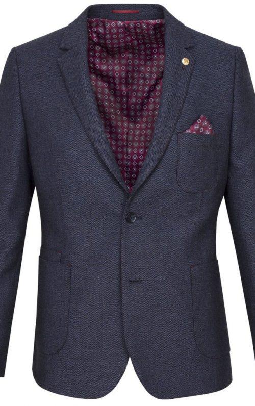 Guide London Navy Wool Blend Blazer