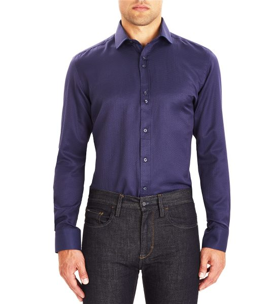 Guide London Navy Jacquard Shirt
