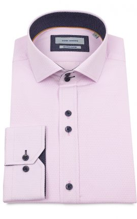 Guide London Pink Oxford Shirt