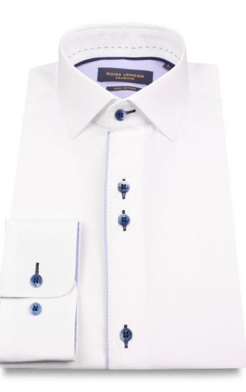 Guide London White Oxford Shirt