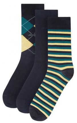 Jockey Mixed Print Deep Teal Socks 3-Pack