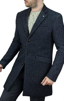 Cavani Fabrini Navy Overcoat