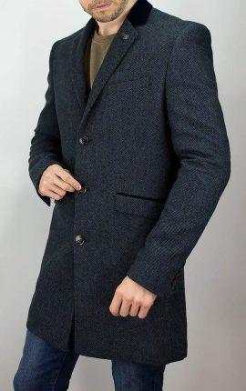 Cavani Kingston Navy Overcoat