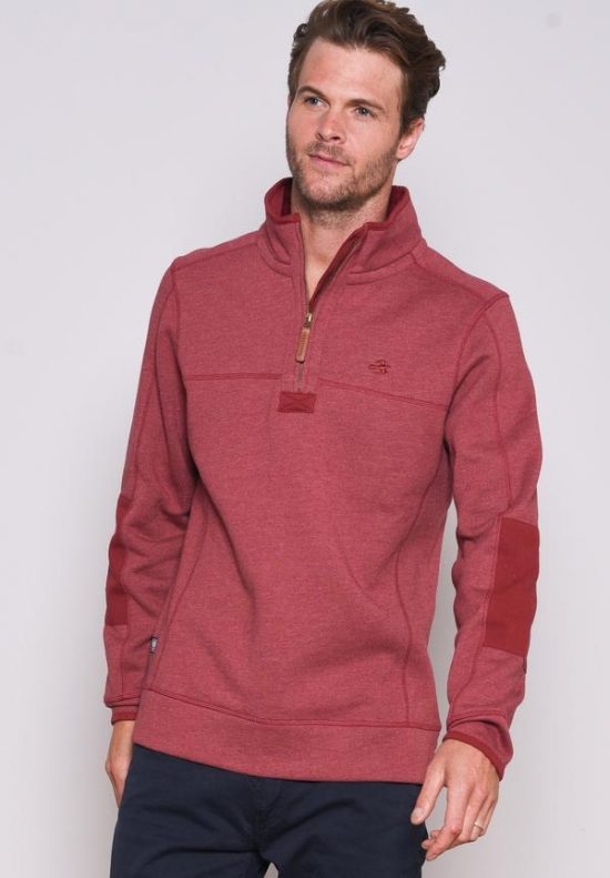 Brakeburn Red Zip Neck Sweat