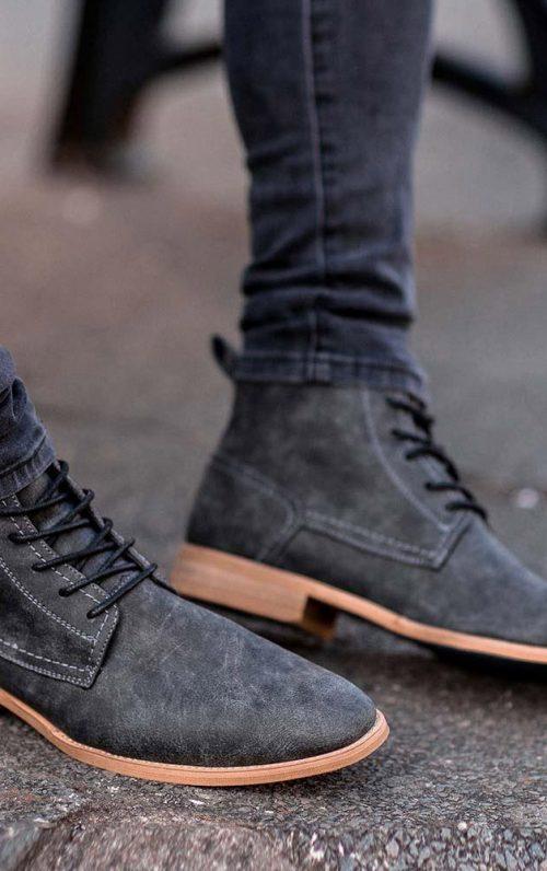 Cavani Hurricane Grey Lace Up Boot