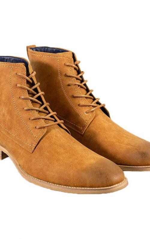 Cavani Hurricane Tan Lace Up Boots