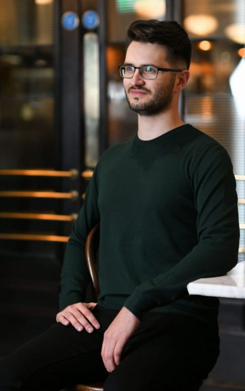 Markup Round Neck Green Sweater